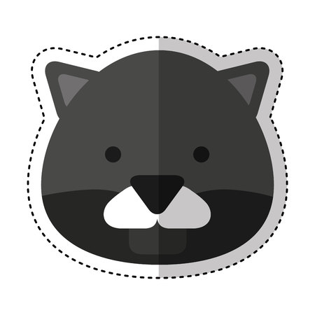 cute panter character icon vector illustration design