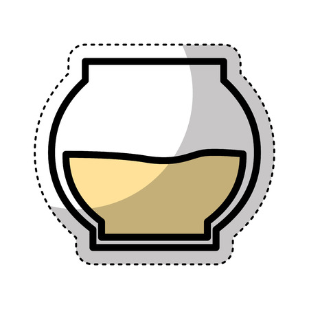 sweet honey pot isolated icon vector illustration design Illustration