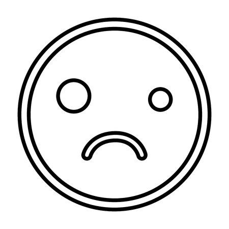 emogy face Kawaii style vector illustration design