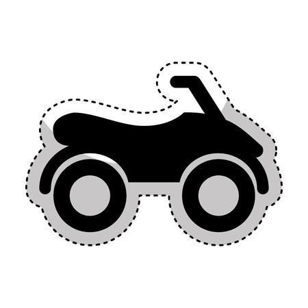 quad: quad motorcycle extreme sport vector illustration design