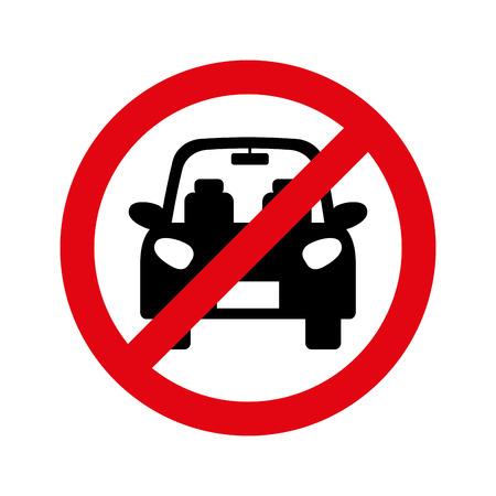 Parkeren verboden teken geïsoleerd pictogram vectorillustratieontwerp