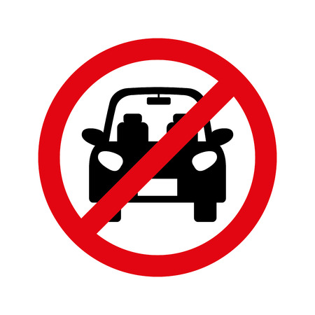 Parking prohibited sign isolated icon vector illustration design Illustration