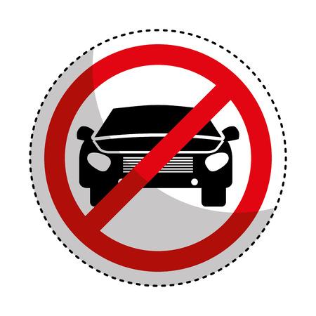 prohibido: Muestra del estacionamiento prohibido icónico ilustración vectorial de diseño