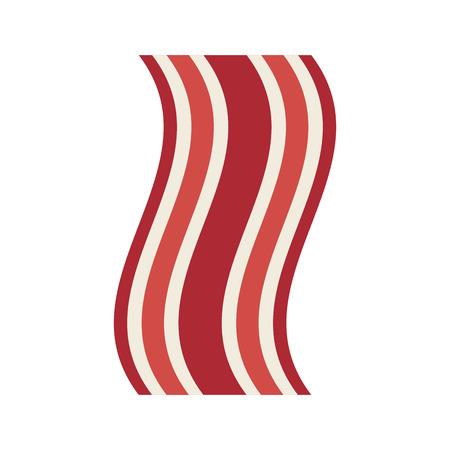 bacon strips: fresh bacon isolated icon vector illustration design