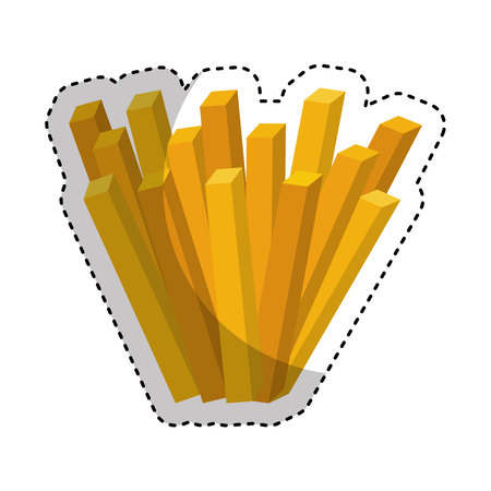 potato chip: french fries isolated icon vector illustration design