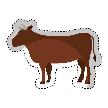 carnicería: carne de vaca icono de carnicería ilustración vectorial de diseño Vectores
