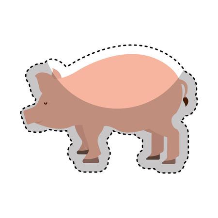 carniceria: carne de cerdo icono de carnicería ilustración vectorial de diseño