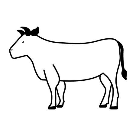 carniceria: carne de vaca icono de carnicería ilustración vectorial de diseño Vectores