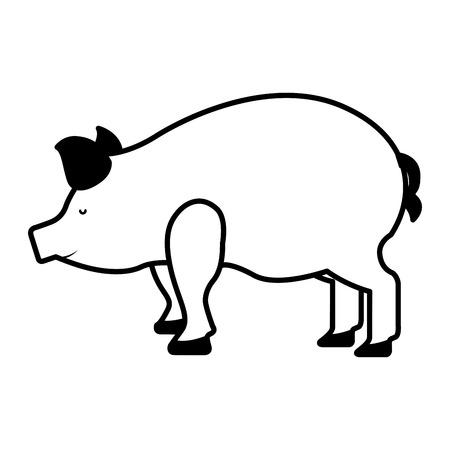 carniceria: pork meat butchery icon vector illustration design Vectores