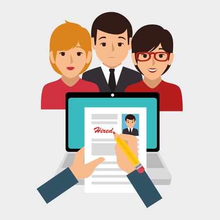 recruitment process concept icon vector illustration design