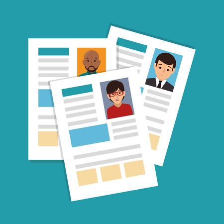 curriculum: curriculum vitae isolated icon vector illustration design
