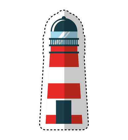 maritime: lighthouse maritime isolated icon vector illustration design