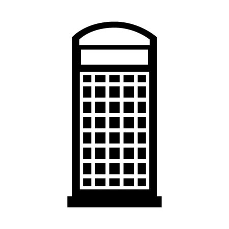 british culture: London telephone booth isolated icon vector illustration design