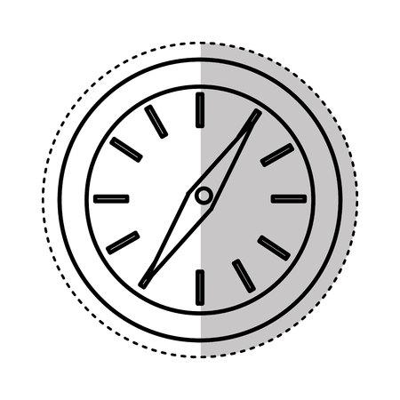 direction magnet: compass travel device icon vector illustration design Illustration