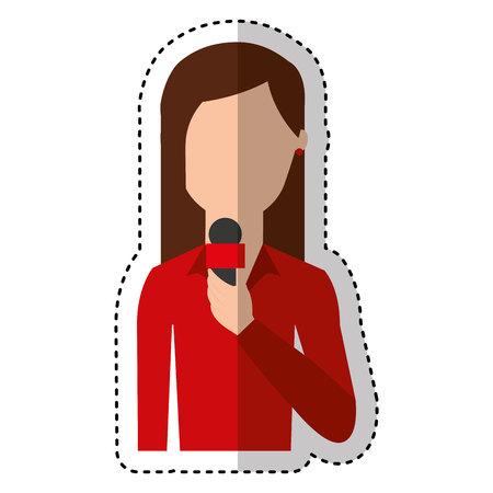 host: news presenter avatar character vector illustration design