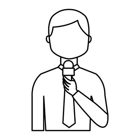 presenter: news presenter avatar character vector illustration design