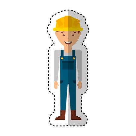civil construction: Construction professional avatar character vector illustration design