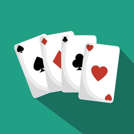 straight flush: poker cards isolated icon vector illustration design Illustration