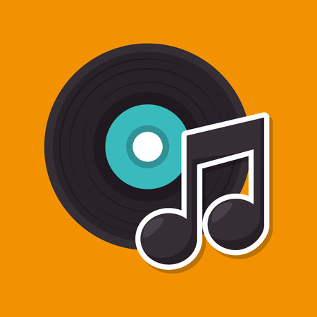 music retro vinyl icon vector illustration design Illustration