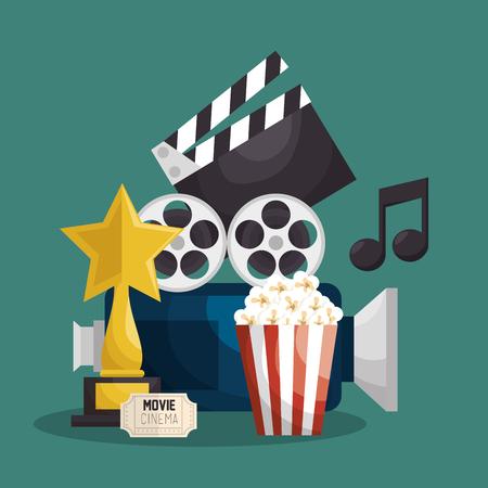 cinematographic: Cinematographic entertainment isolated icons vector illustration design Illustration