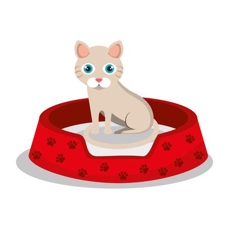 cat pet shop icon vector illustration design