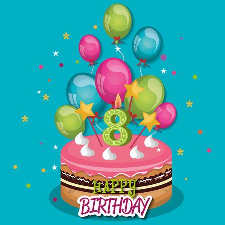 celebration: happy birthday celebration card vector illustration design