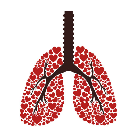 Ecological lungs isolated icon vector illustration design Illustration