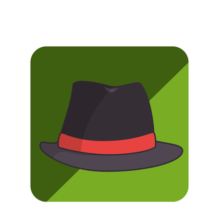 hat hipster style icon vector illustration design Illustration