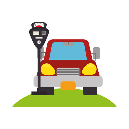 parking zone concept icon vector illustration design