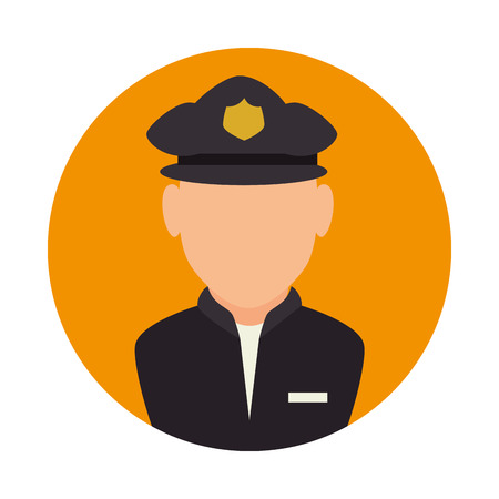enforce: police avatar character icon vector illustration design Illustration