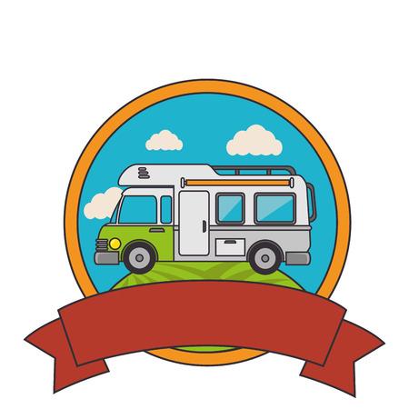 trailer travel car isolated icon vector illustration design Illustration