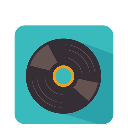 disk vinyl retro music vector illustration design Illustration