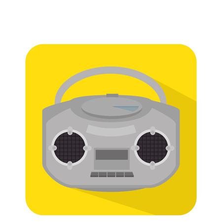 fm: radio retro isolated icon vector illustration design