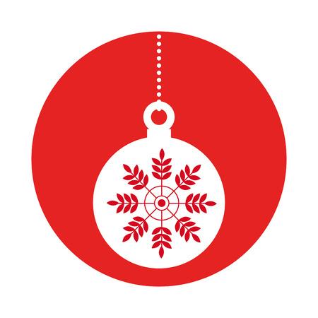 hung: happy merry christmas balls card vector illustration design