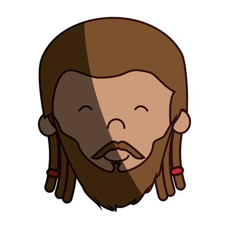 jamaican: jamaican man character icon vector illustration design