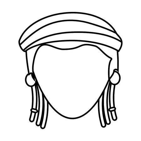 jamaican: jamaican woman character icon vector illustration design