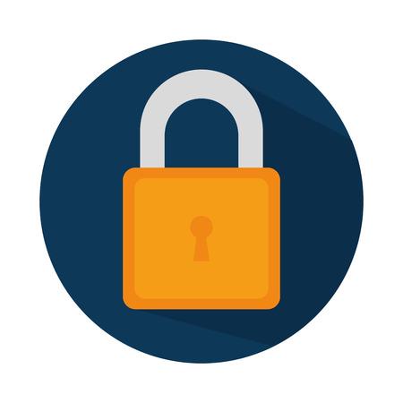 secret code: safe secure padlock icon vector illustration design