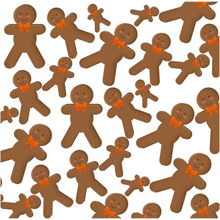 galleta de jengibre: feliz tarjeta de jengibre galletas de Navidad ilustración vectorial feliz diseño
