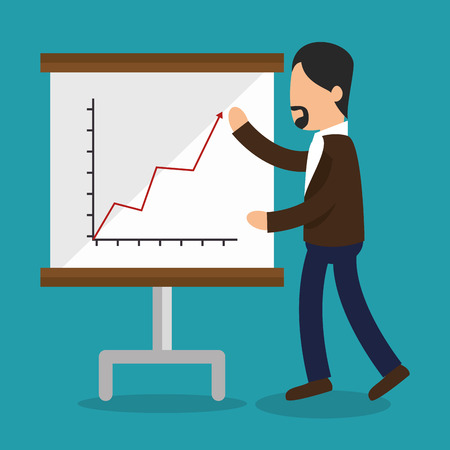 paperboard: business people with paperboard training icon vector illustration design