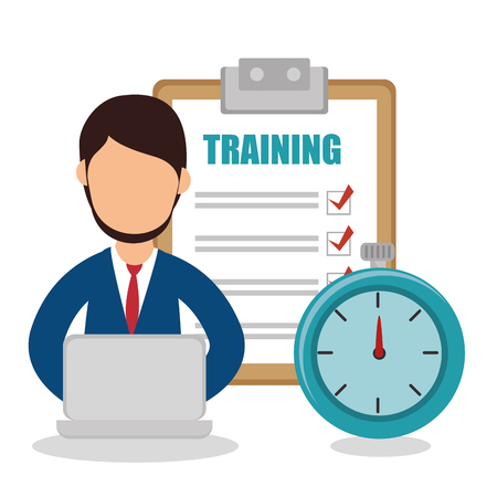 checklist: business people with checklist training icon vector illustration design