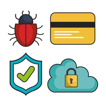cyber security system icon vector illustration design