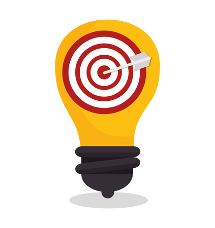 target arrow isolated icon vector illustration design Illustration