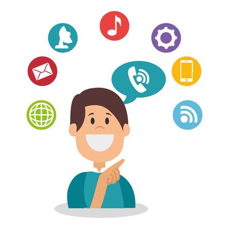 gente comunicandose: People communicating concept icon vector illustration design