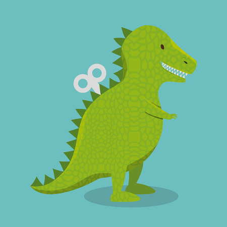 rex dinosaur toy icon vector illustration design