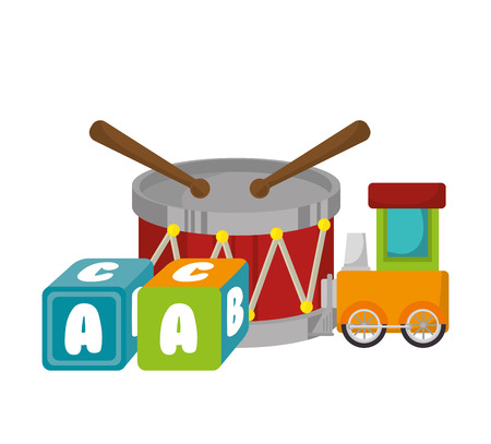 set baby toys icon vector illustration design