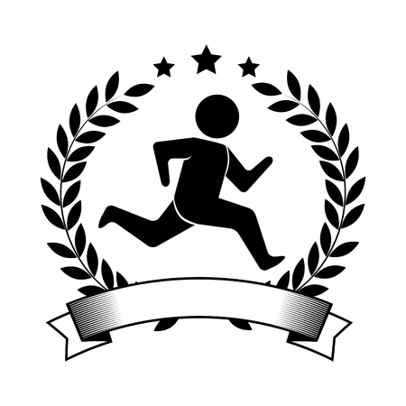 competitor: Athletic competitor emblem icon vector illustration design Illustration