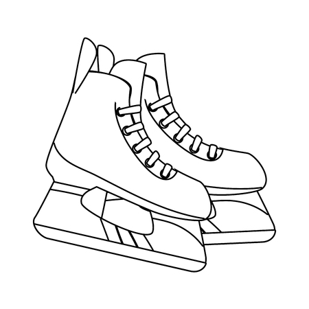 skaters: ice skaters isolated icon vector illustration design
