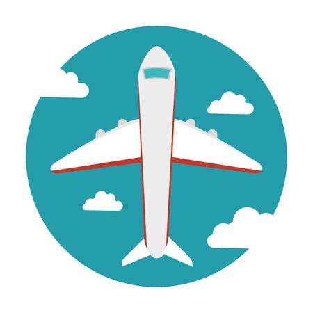 fly around: fly around the world vector illustration design