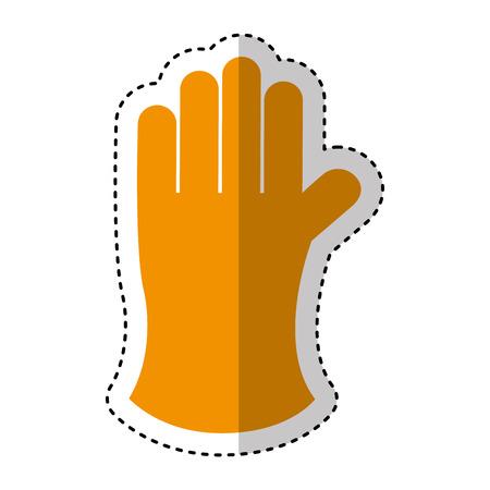 gloves gardening isolated icon vector illustration design