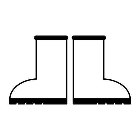gardening  equipment: boot gardening equipment icon vector illustration design